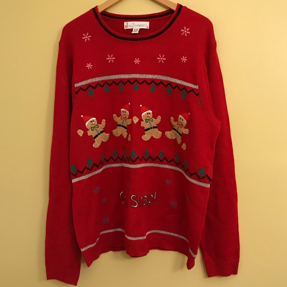 Jolly Sweaters Sweaters Oh Snap Ugly Christmas Sweater Size Xl